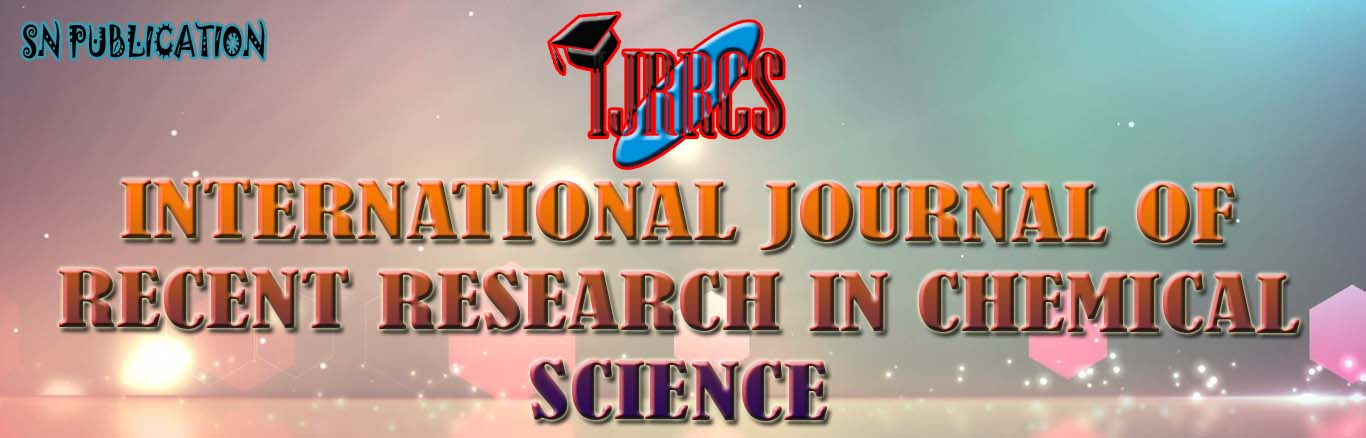 International Journal of Recent Research in Chemical Science